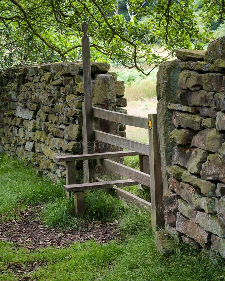 Przełaz na North Yorkshire Cumuje obrazy stock