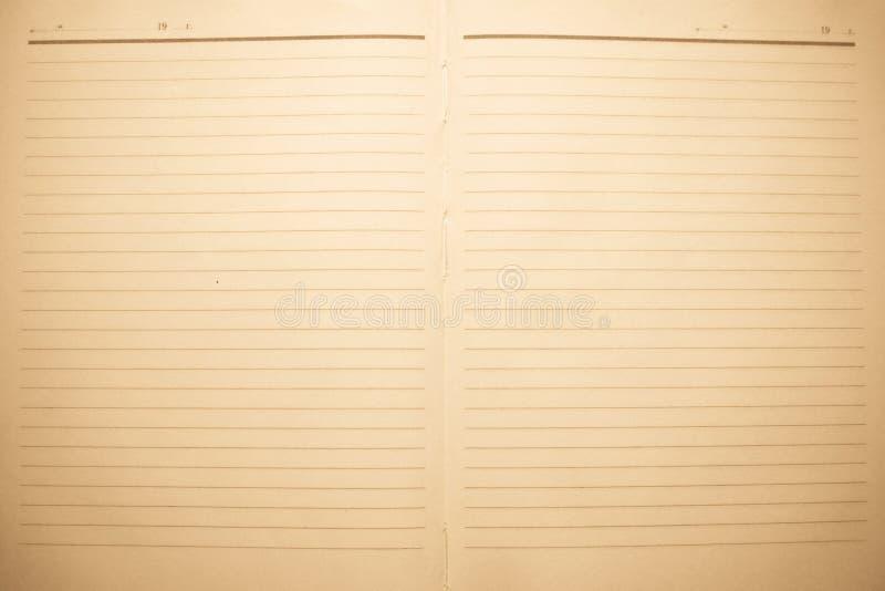 Prześcieradła starzy notatniki używać jako tło zdjęcia royalty free