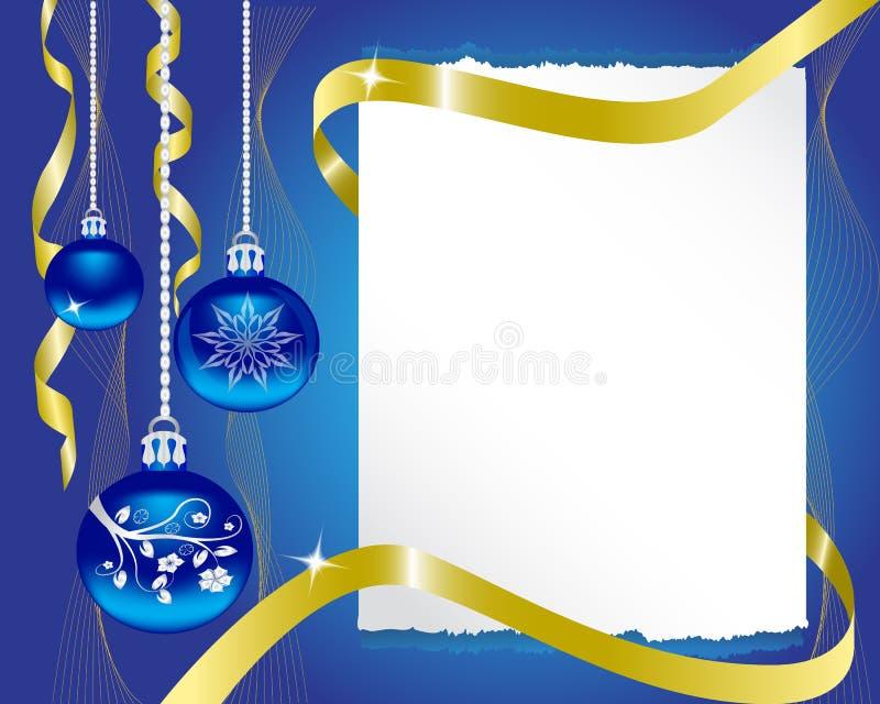 prześcieradło papier i Bożych Narodzeń dekoracje ilustracja wektor