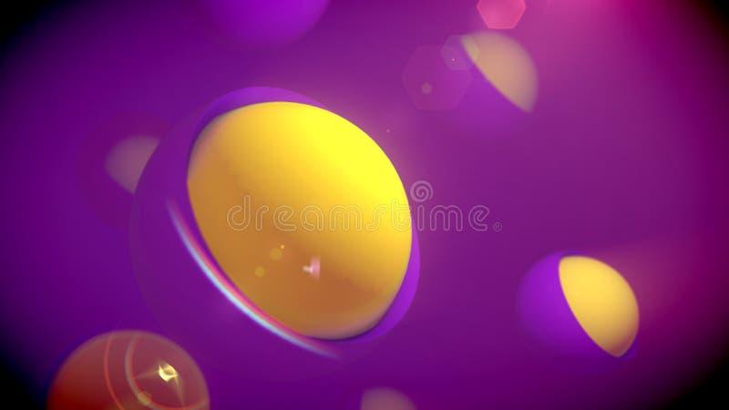 Prześwietne sfery od Gniazdujących przedmiotów ilustracja wektor
