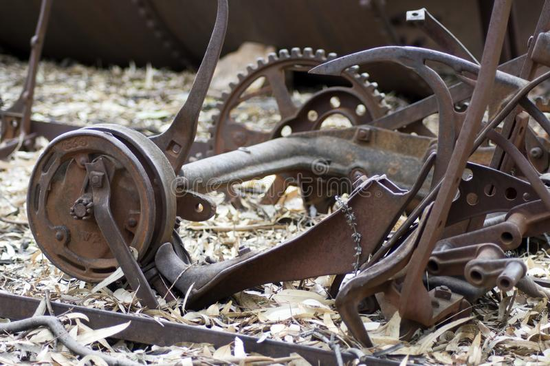 Przeżyty rolny wyposażenie przy farmą, Wilpena funt, Południowy Australia zdjęcia royalty free