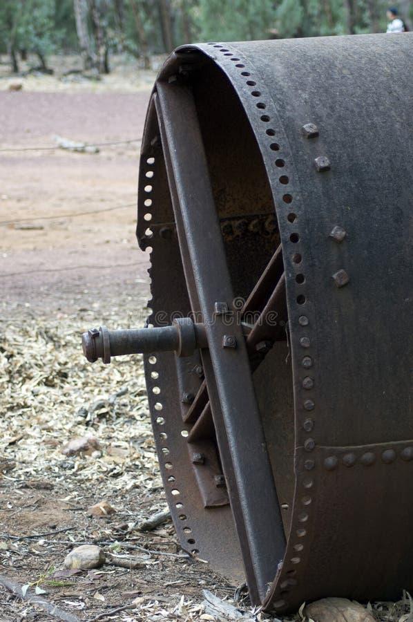 Przeżyty rolny wyposażenie przy farmą, Wilpena funt, SA, Australia obraz stock