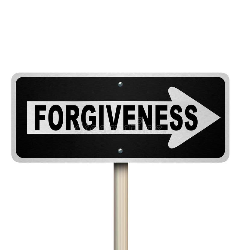 Przebaczenie jednobiegowy Drogowy znak Patrzeje dla odkupienia royalty ilustracja