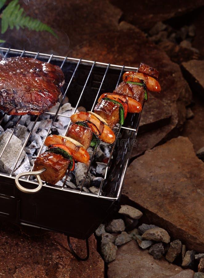 przebić człowieka mięsa obrazy stock
