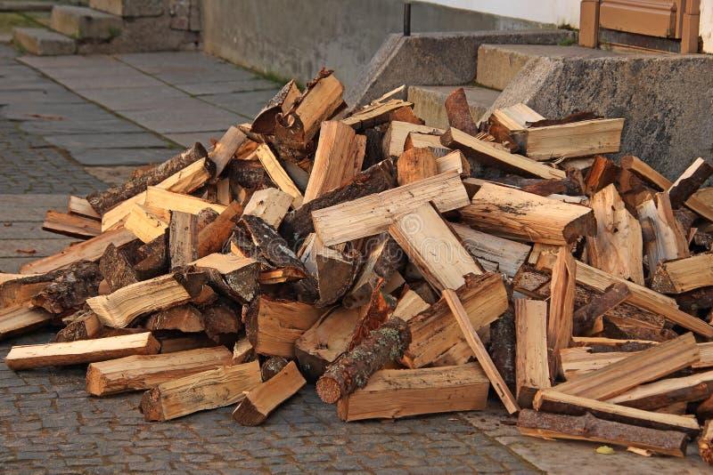 Przebity drewno na ganeczku fotografia stock