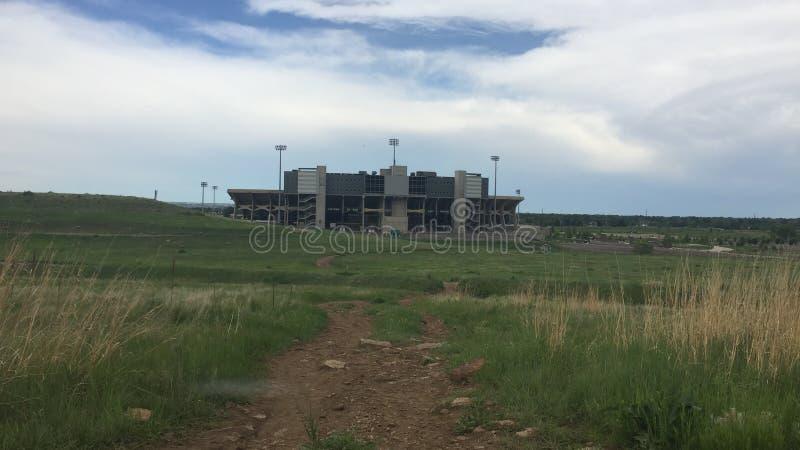 Przechodzi? na emerytur? CSU Taranuje stadium 2016 fort Collins CO zdjęcia royalty free