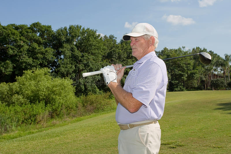 Przechodzić na emeryturę, Starszy golfista, obrazy royalty free