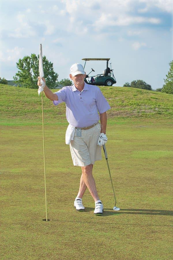 Przechodzić na emeryturę, Starszy golfista, zdjęcie royalty free