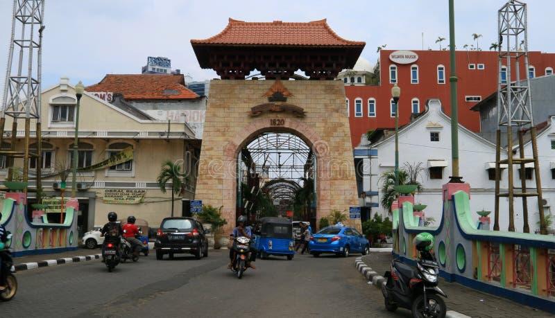Przechodzień Baroe Dżakarta obrazy stock