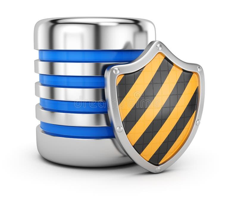 Przechowywanie danych ochrony pojęcie ilustracja wektor