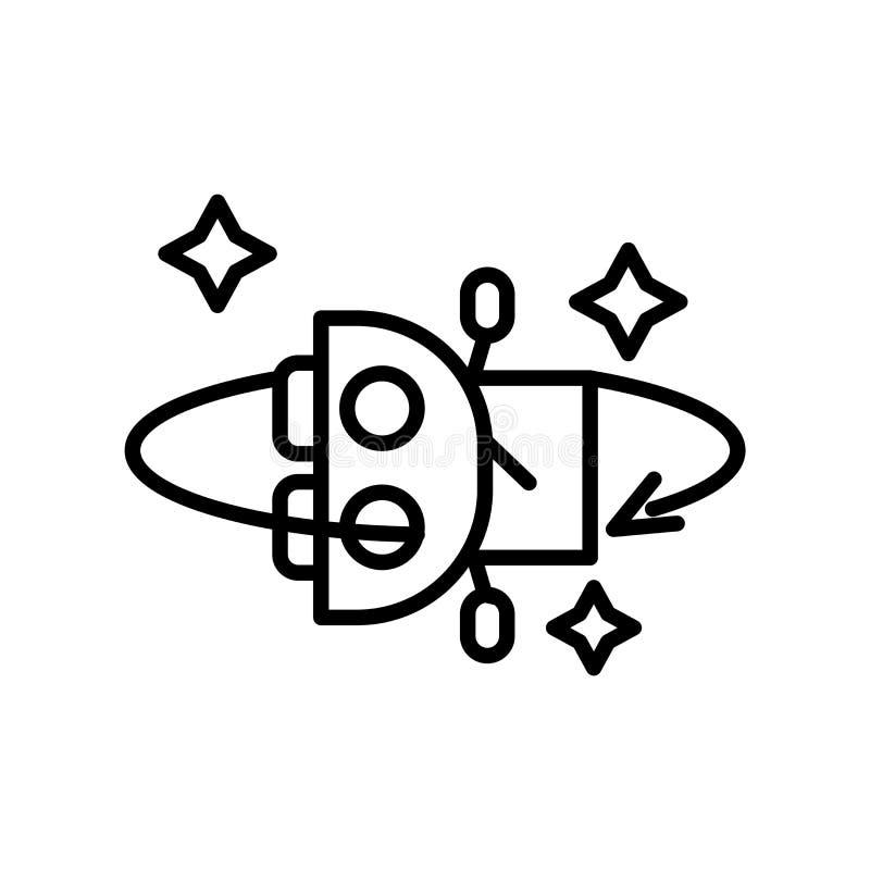 Przechyla ikona wektor odizolowywającego na białym tle, Przechyla, znaka, kreskowego symbol lub liniowego elementu projekt w kont royalty ilustracja