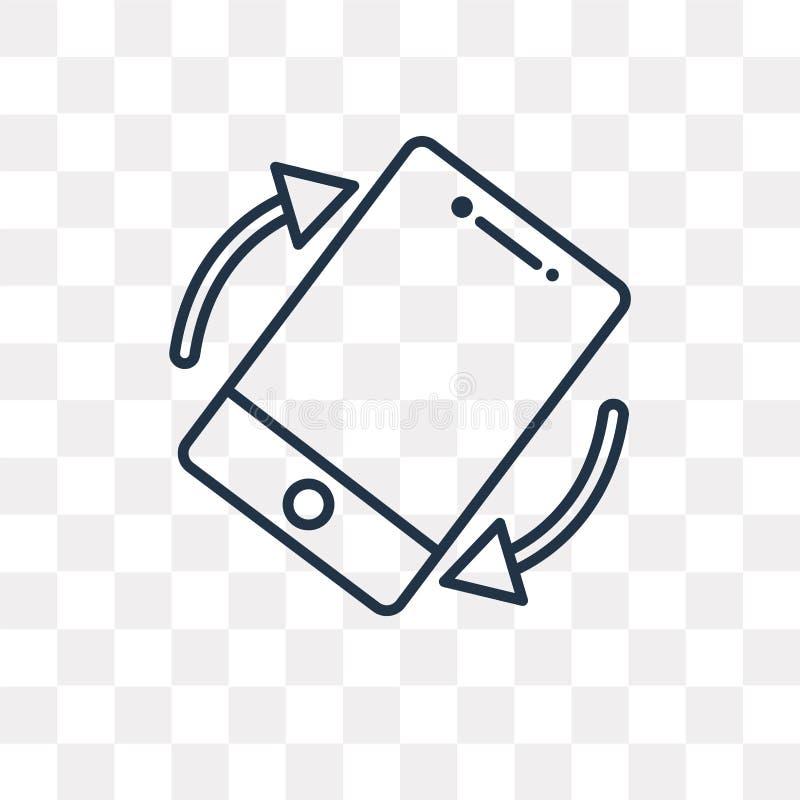 Przechyla wektorową ikonę odizolowywającą na przejrzystym tle, liniowa plandeka ilustracja wektor