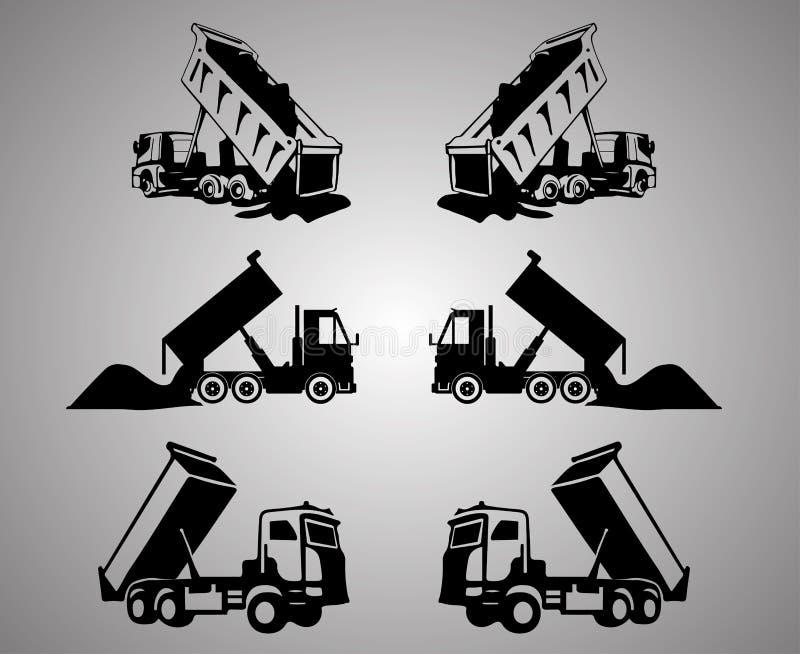 Przechylanie ciężarówki klamerki sztuka obraz stock