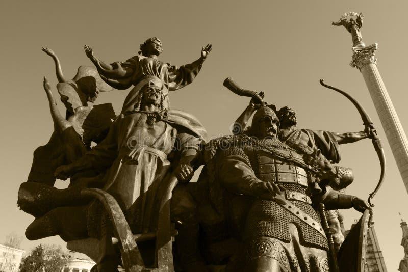 przecież Kiev założycieli pomnik fotografia royalty free