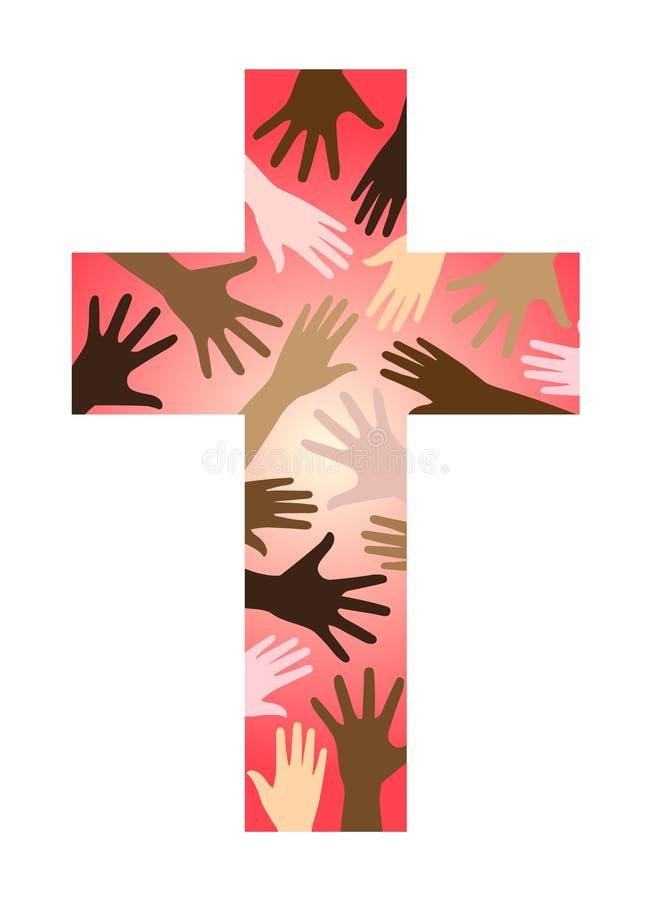 przecinająca chrześcijanin jedność ilustracja wektor