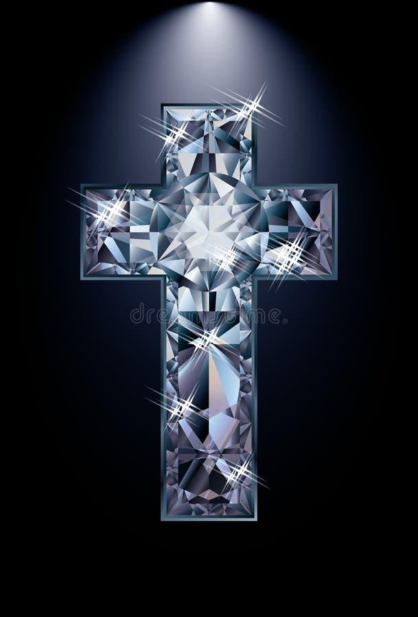 Przecinająca diamentowa religia ilustracji