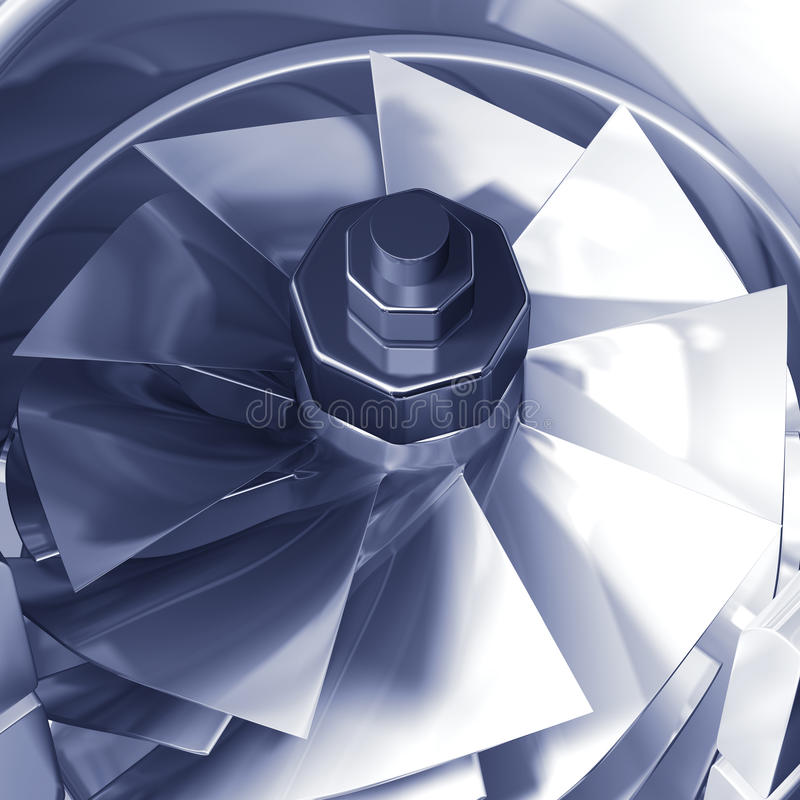 przecinająca szczegółu sekci turbina royalty ilustracja