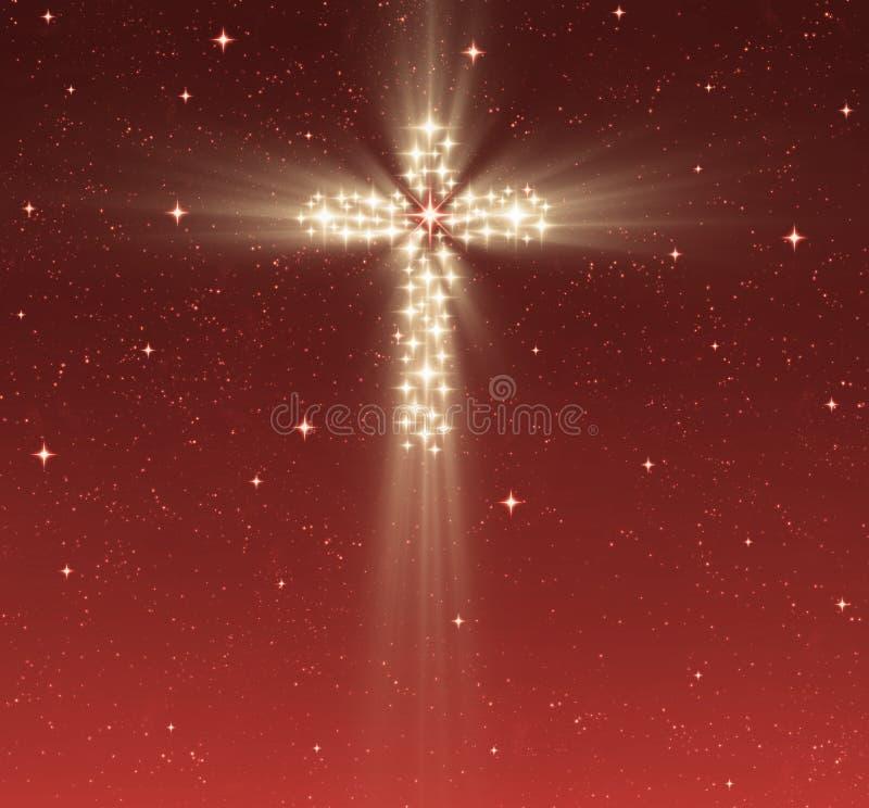 przecinające chrześcijanin gwiazdy ilustracja wektor