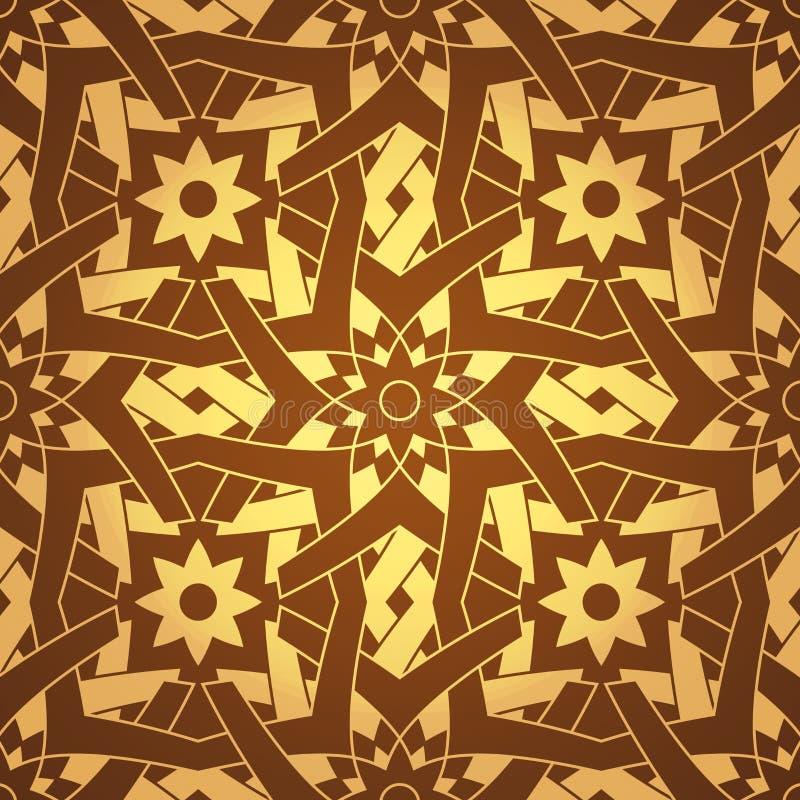 przecinającego kwiatu geometryczny deseniowy bezszwowy wektor royalty ilustracja