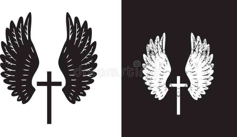przecinający aniołów skrzydła royalty ilustracja