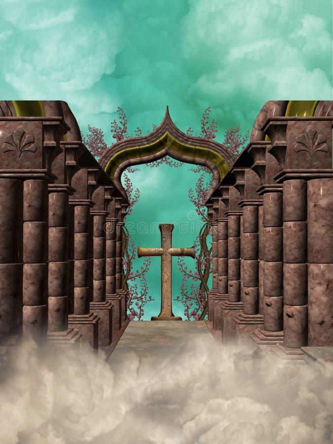 przecinający gothic royalty ilustracja