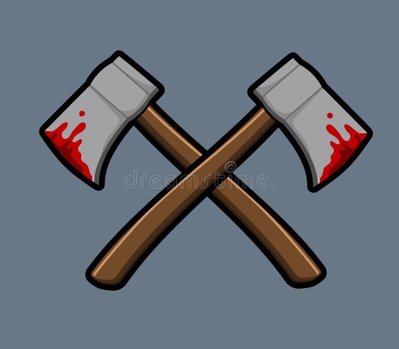 Przecinający krwawiący ax royalty ilustracja