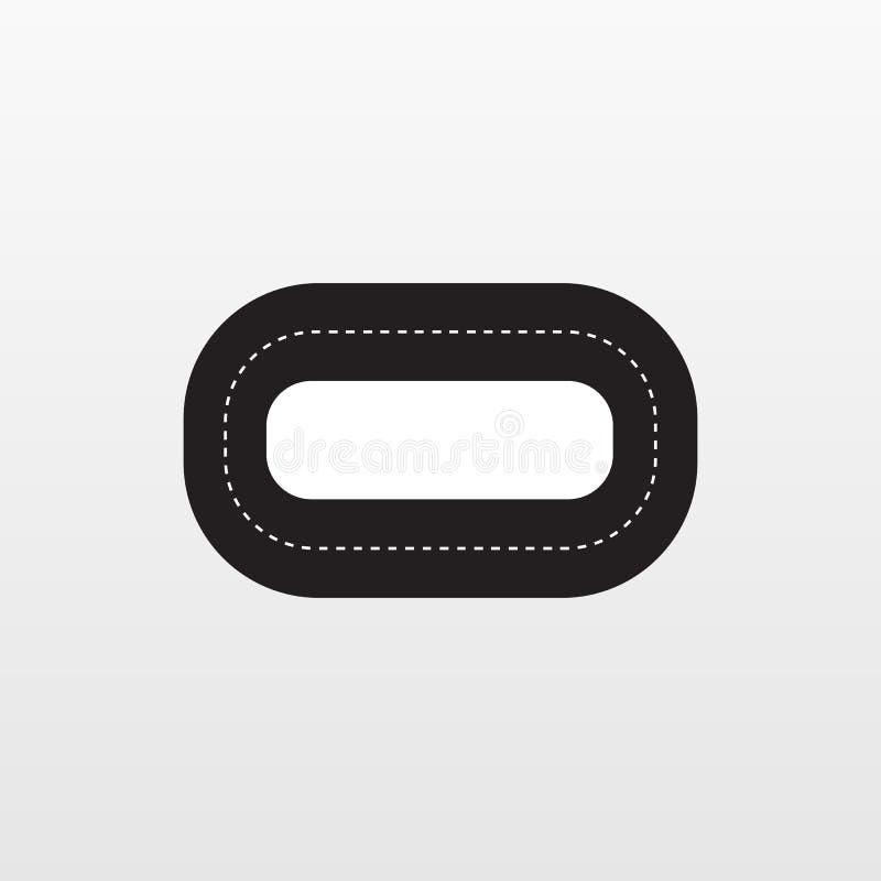 Przecinający Szlakowy ikona wektor Mieszkanie zlotny symbol odizolowywający na białym tle Modny interneta pojęcie Mo royalty ilustracja