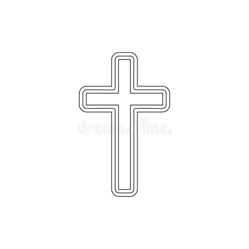 Przecinaj?ca kontur ikona Elementy Wielkanocna ilustracyjna ikona Znaki i symbole mog? u?ywa? dla sieci, logo, mobilny app, UI, U ilustracja wektor