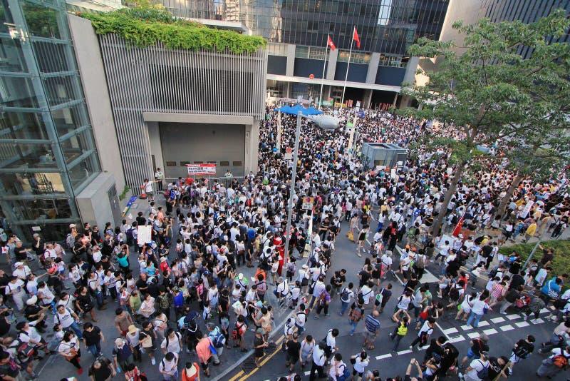Przeciw edukaci narodowa w Hong Kong zdjęcia stock