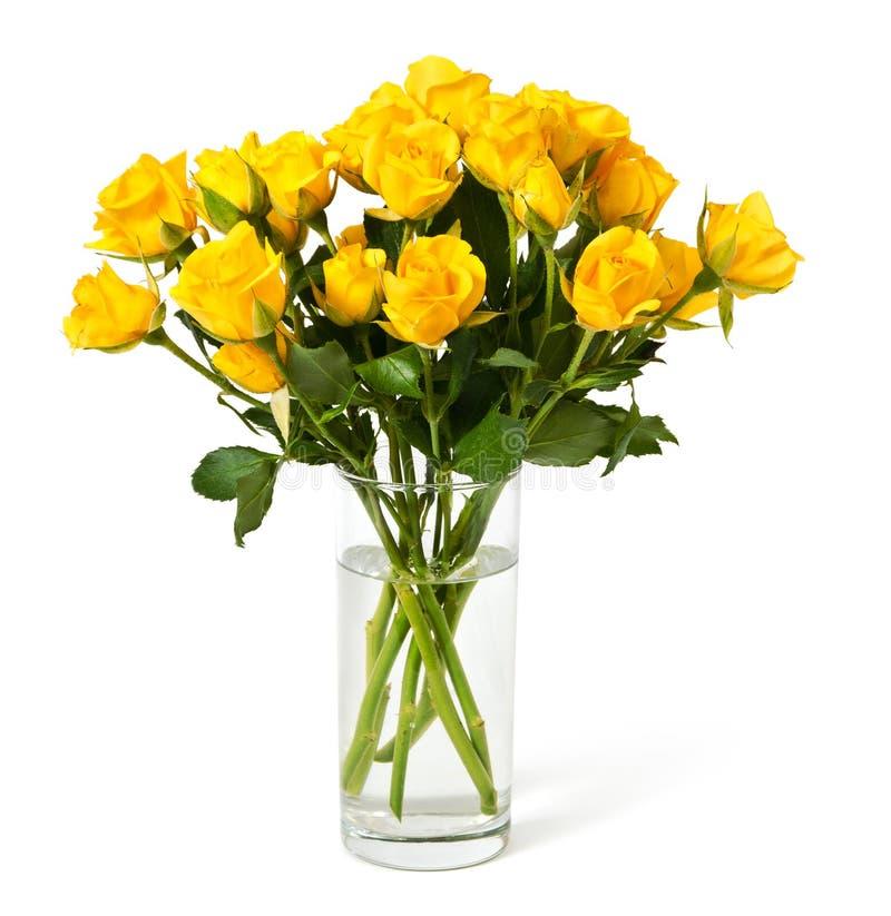 przeciw tła bukieta odosobnionemu róż biel kolor żółty obrazy royalty free