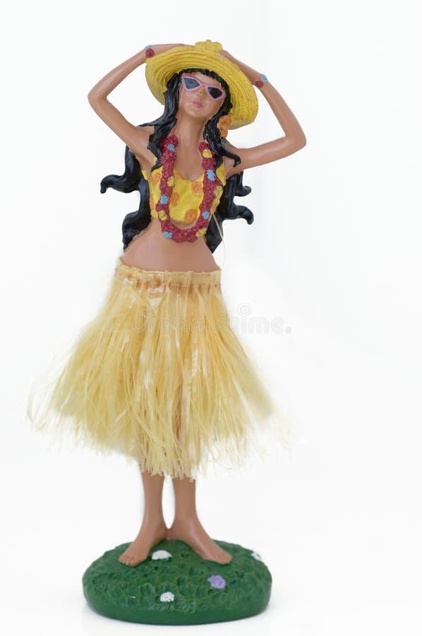 przeciw tła kolorowemu lali hawajczyka biel zdjęcie stock