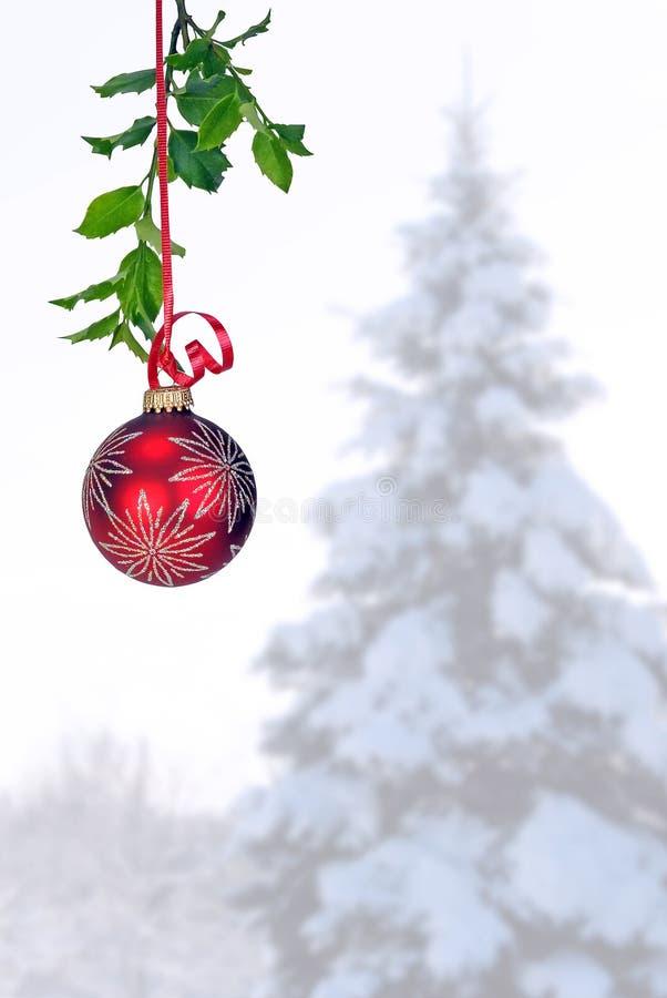 przeciw tła obwieszenia ornamentu czerwieni zima zdjęcia royalty free