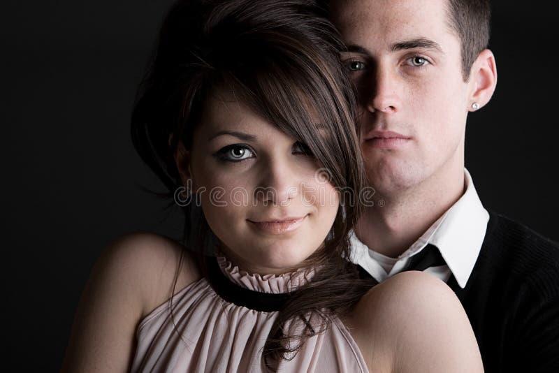 przeciw tła pary zmroku potomstwom zdjęcia royalty free
