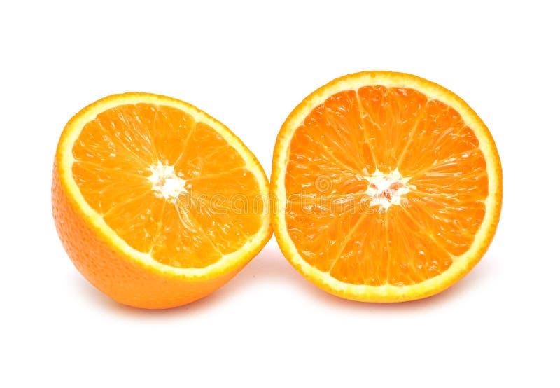 przeciw tłu przekrawający pomarańczowy biel obrazy stock