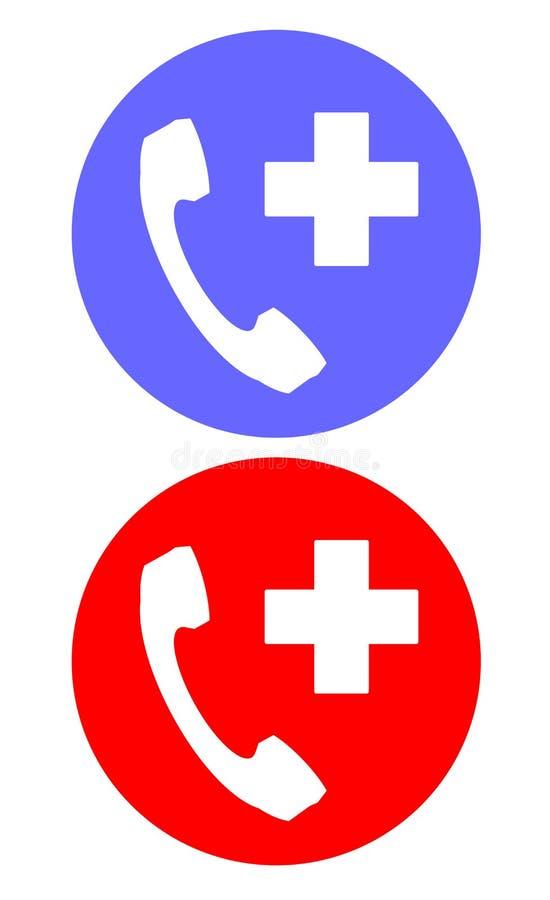 Przeciwawaryjna dzwoni usługa ustalona ikona ilustracja wektor