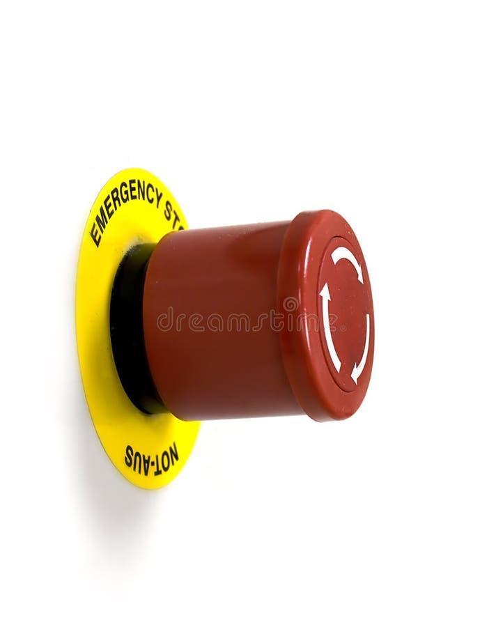 przeciwawaryjna guzik przerwa zdjęcia stock
