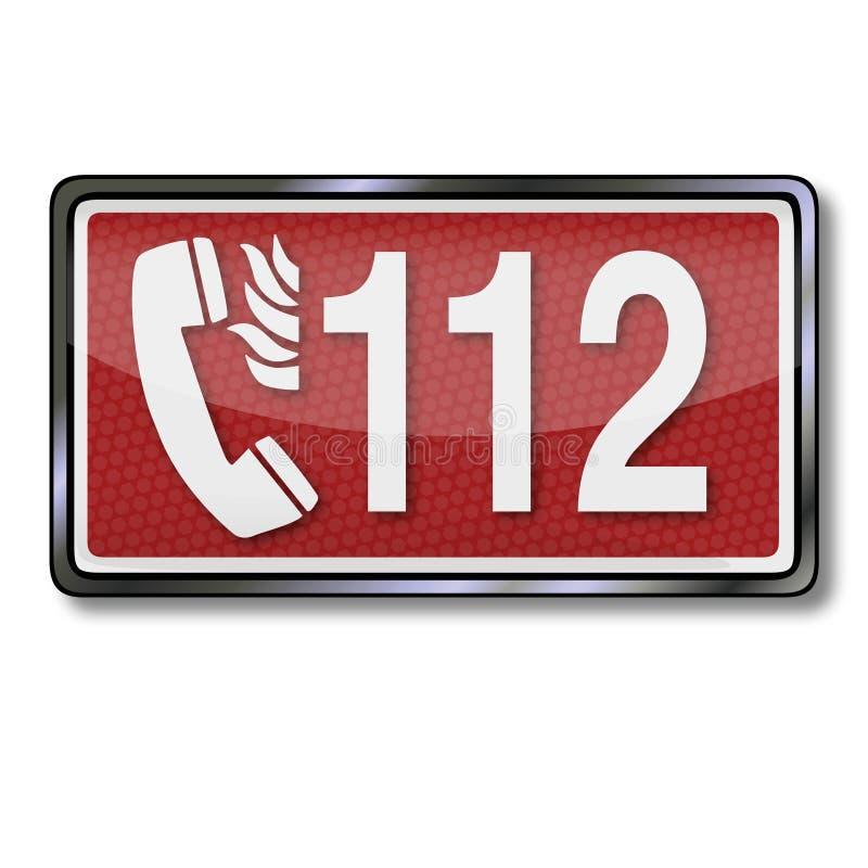 Przeciwawaryjna liczba 112 w przypadku ogienia royalty ilustracja