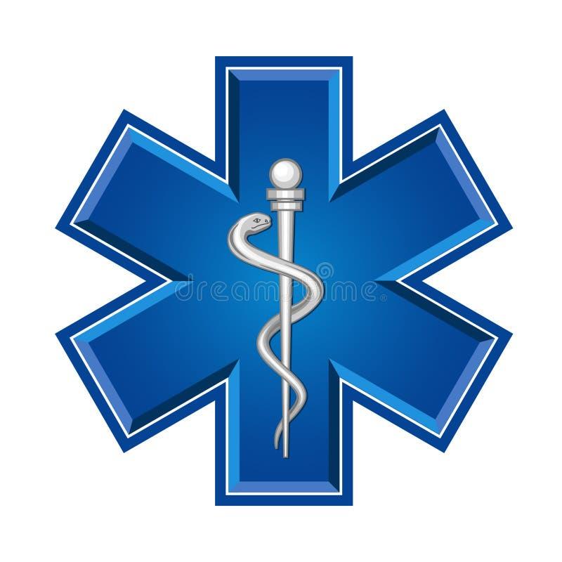 Przeciwawaryjny medyczny symbol ilustracja wektor