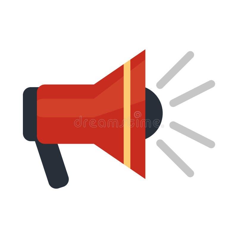 Przeciwawaryjny megafonu symbol ilustracja wektor