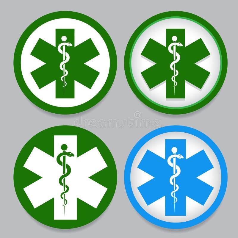 Przeciwawaryjny Symbol ilustracja wektor