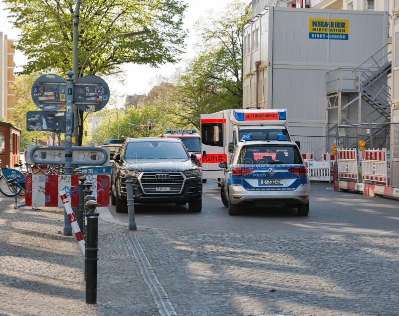 Przeciwawaryjny wypadek w Berlin, Niemcy fotografia royalty free