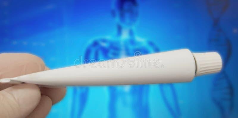 Przeciwbólowa maści tubka dla bólów obrazy stock