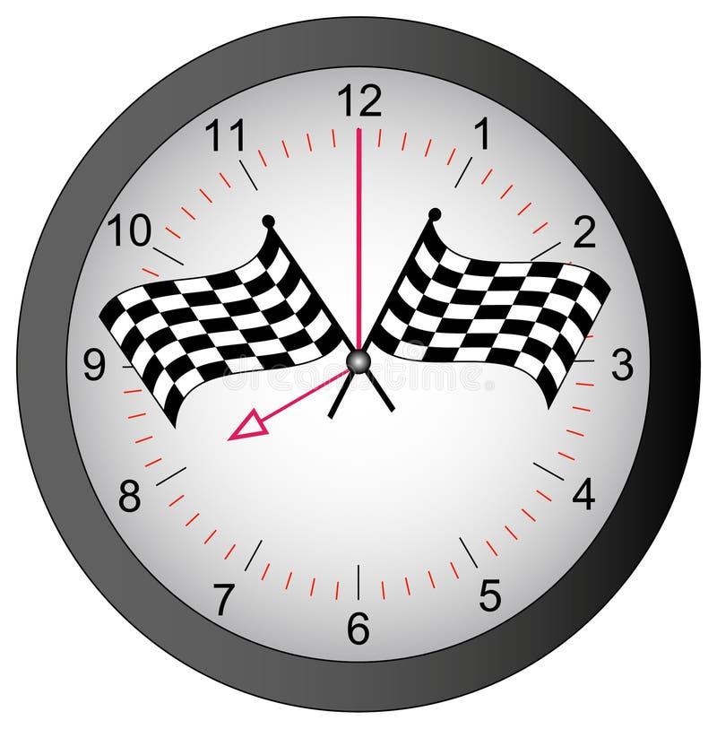 przeciwko biegowemu czasu ilustracji
