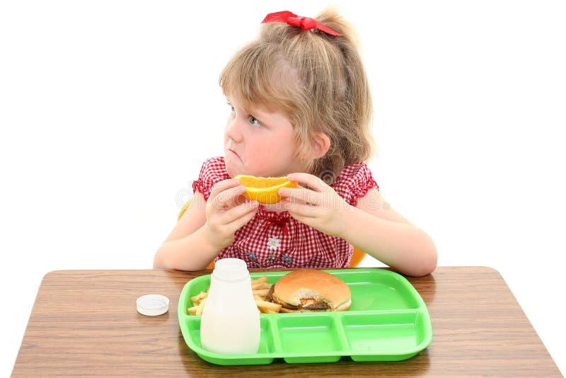 przecudne panie lunch nieszczęśliwa mała szkoła zdjęcie stock