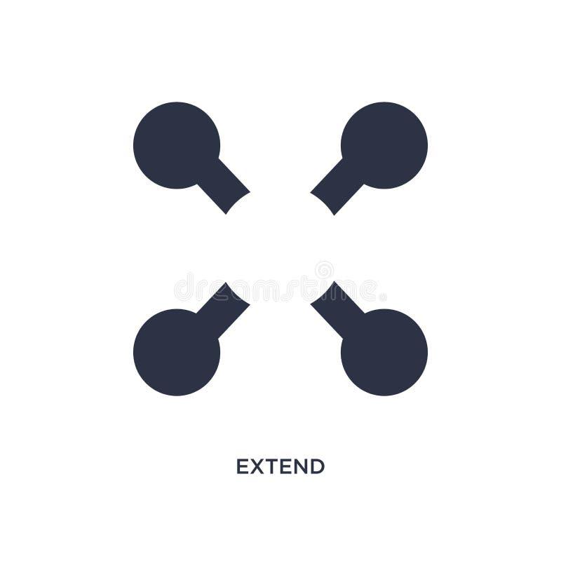 Przedłużyć ikonę na białym tle Prosta element ilustracja od geometrii pojęcia royalty ilustracja