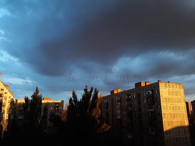 Przed deszczem zdjęcie stock