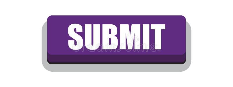 Przedkłada guzik purpury ilustracji
