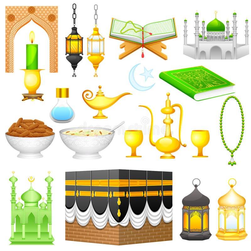 Przedmiot dla Eid projekta ilustracji