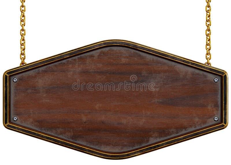 przedmiot nad signboard biały drewnianym zdjęcia royalty free