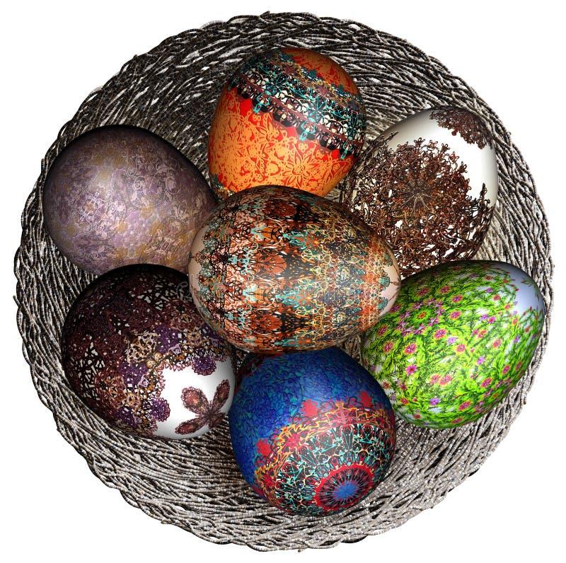Przedmiota Easter wystroju odosobneni jajka obrazy royalty free